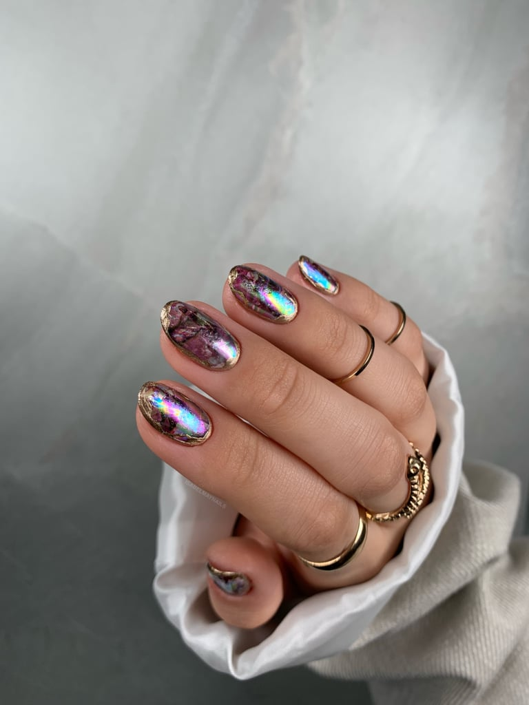 Rainbow Opal Nail Art Trend Inspiration