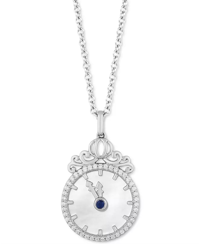 Enchanted Disney Diamond and Mother of Pearl Cinderella Pendant Necklace
