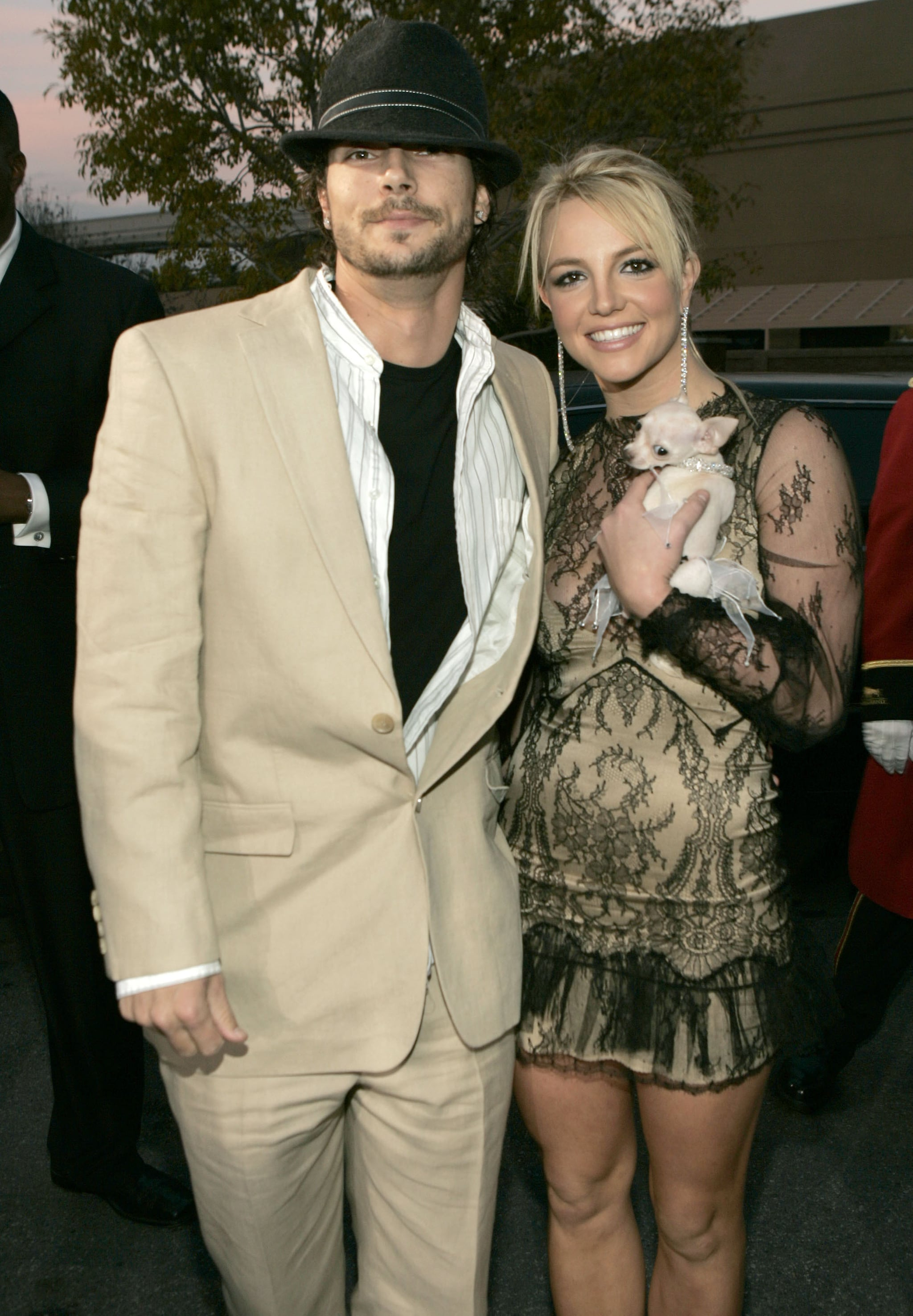 Kevin Federline and Britney Spears at the MGM Grand Garden in Las Vegas, Nevada (Photo by Kevin Mazur/WireImage)