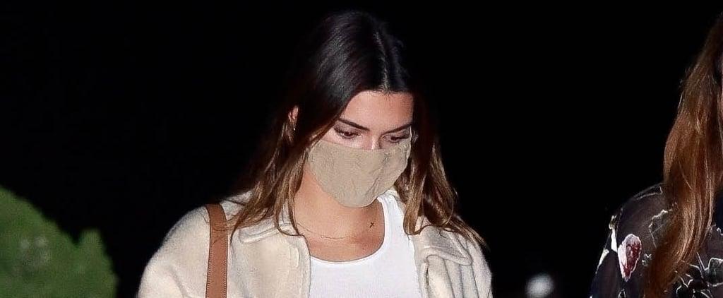 Kendall Jenner Wearing Beige Mango Jacket