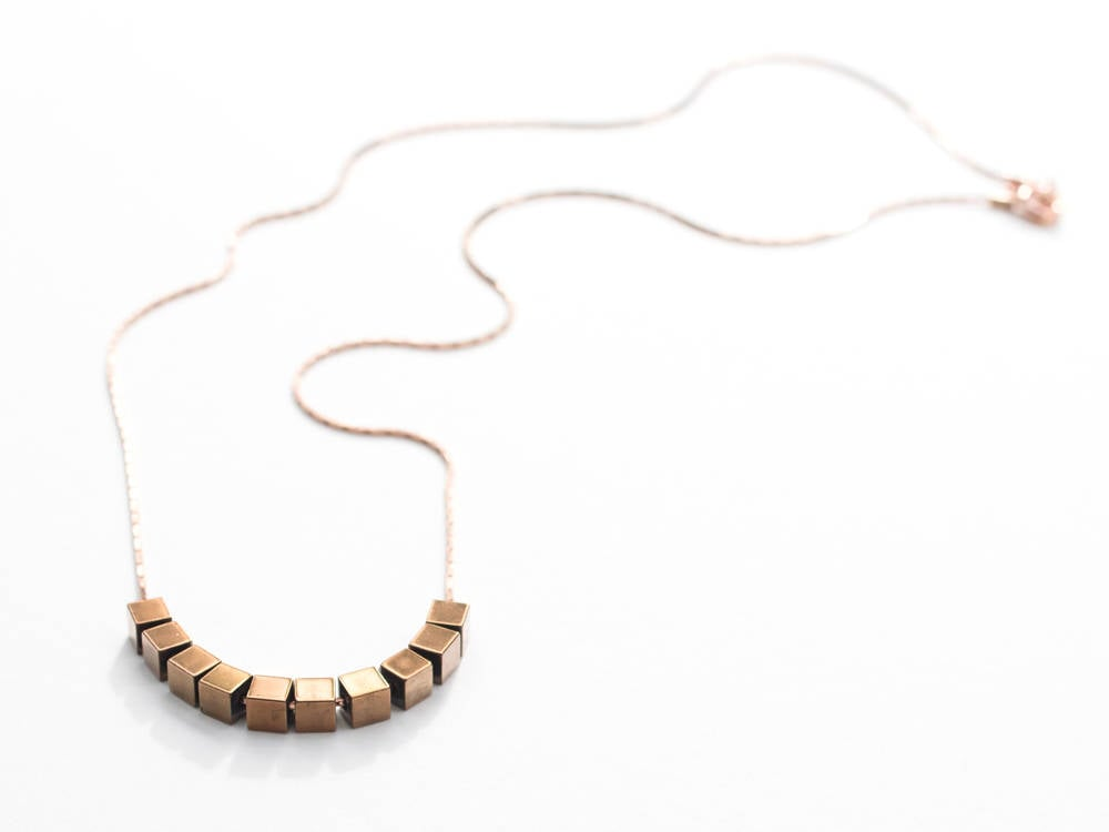 Minimalist Rose Gold Chain Necklace