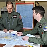 Prince William and a fellow RAF pilot charted their course.