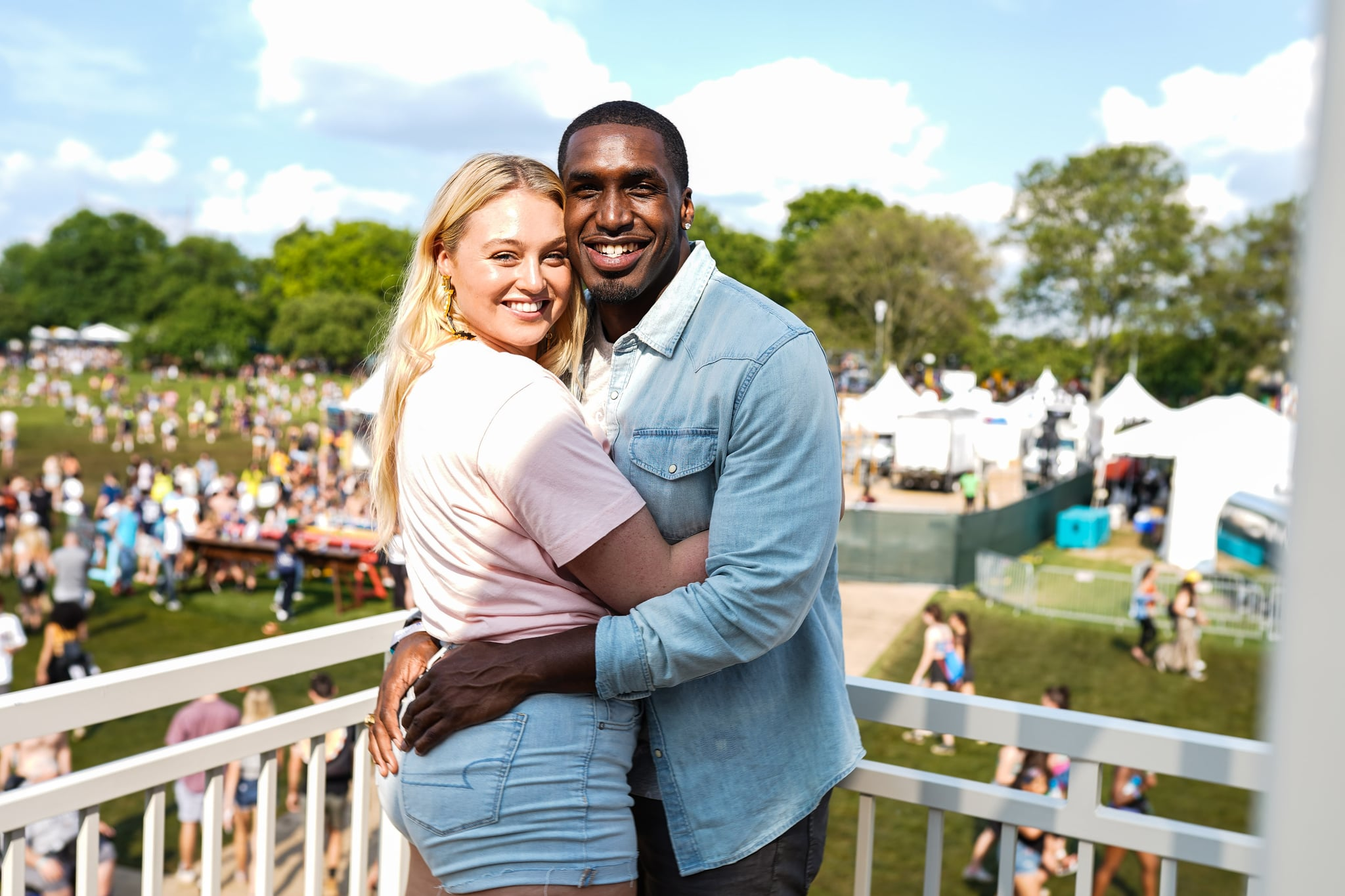 NEW YORK, NEW YORK - MAY 31:  (L-R)  Iskra Lawrence and Philip Payne during the American Eagle At NYC's Governors Ball 2019 at Randall's Island on May 31, 2019 in New York City. (Photo by Gonzalo Marroquin/Getty Images for American Eagle)