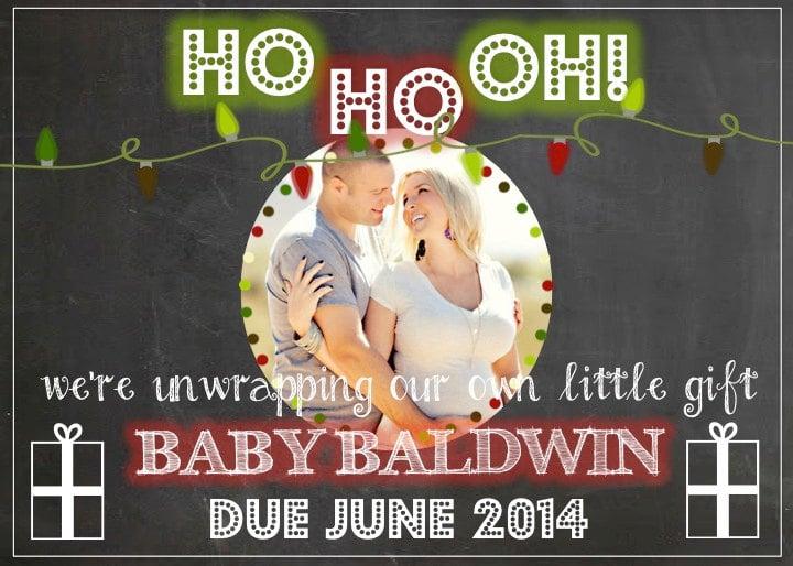 Facebook Christmas Pregnancy Reveal Design