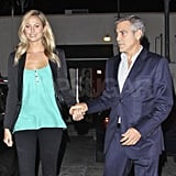 George Clooney and Stacy Keibler out to dinner in LA.