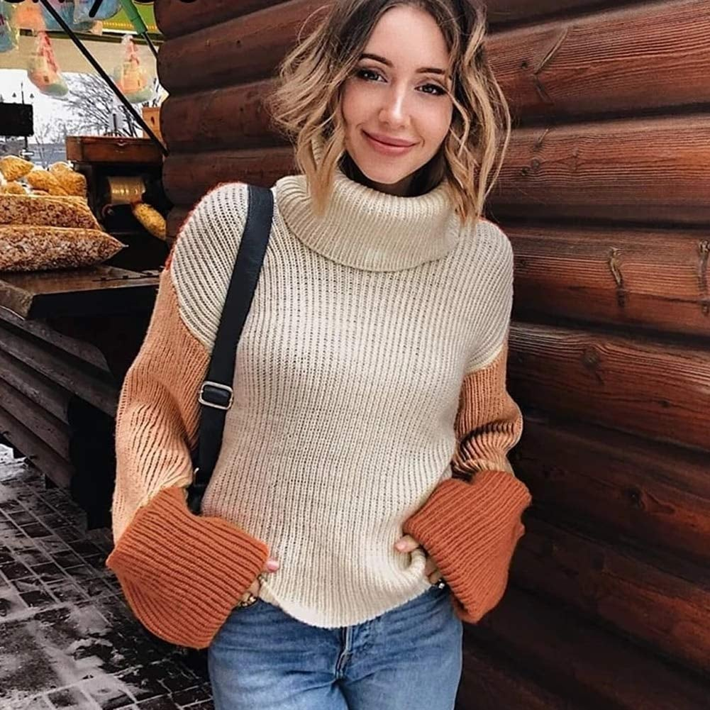 Zesica Colour Block Oversize Sweater