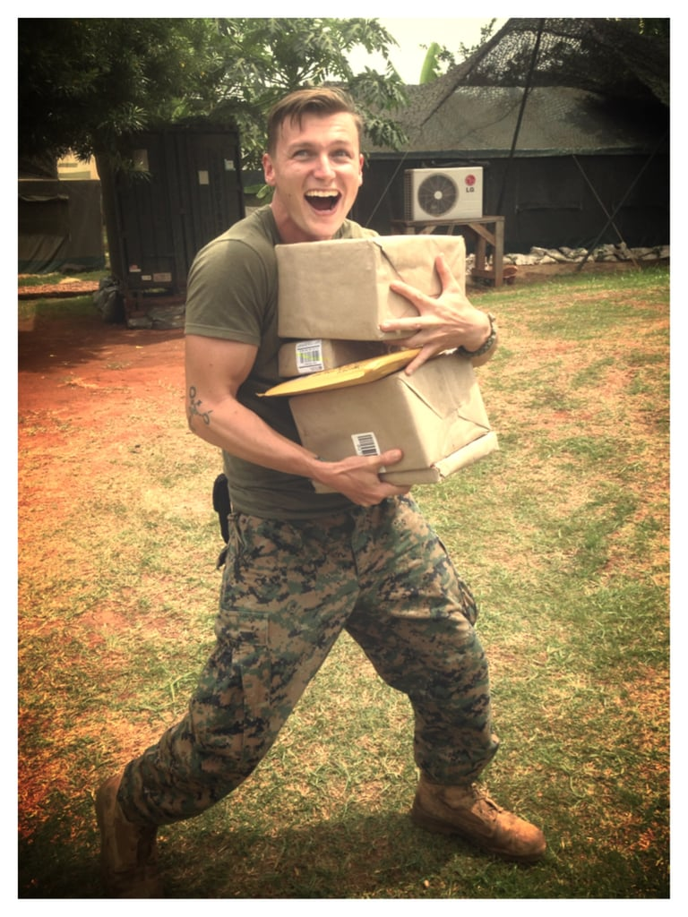 Ridiculously Happy Marine in Love
