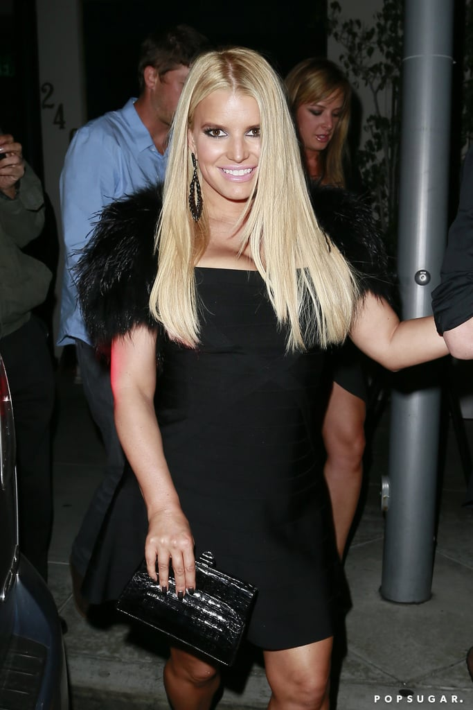Jessica Simpson celebrated Halloween with a group dinner in LA on Thursday.