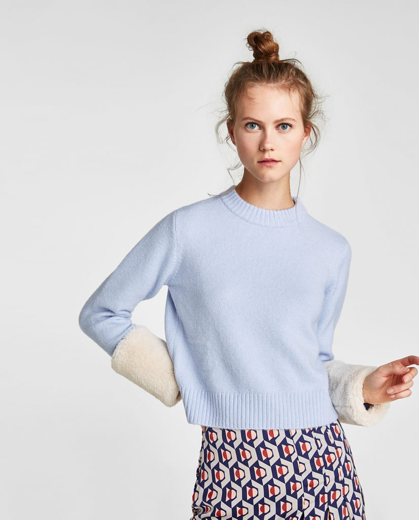 Sweater with Textured Cuffs