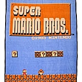 Bioworld Nintendo Super Mario Bros. Retro Fleece Throw Blanket