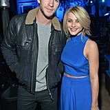 Julianne Hough and Liam Hemsworth posed for a photo.