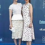Sarah Paulson and Amanda Peet at 2017 Critics' Choice Awards