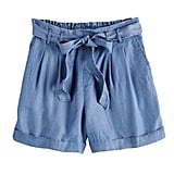 POPSUGAR Chambray Paperbag Shorts