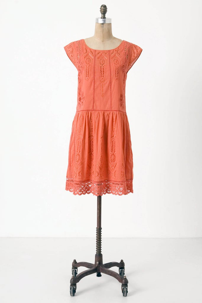 A flattering eyelet dress dipped in an irresistible watermelon-red hue.  Meadow Rue Watermelon Ice Dress ($100, originally $188)