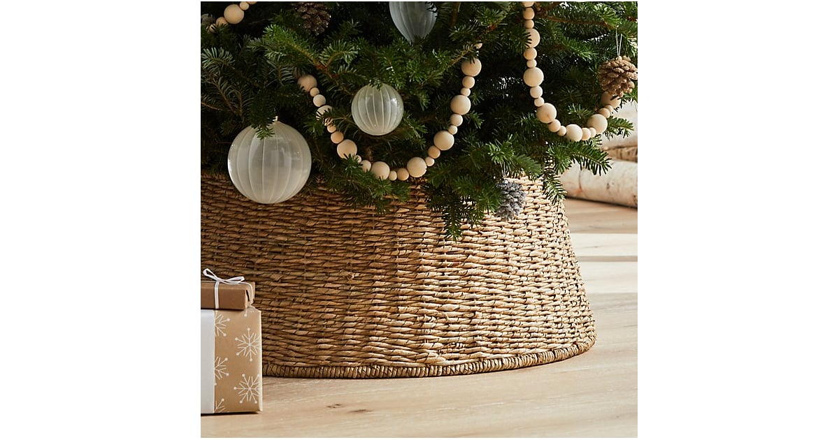 Abaca Tree Collar | Tired of Christmas Tree Skirts? Try a Collar Instead | POPSUGAR Home ...