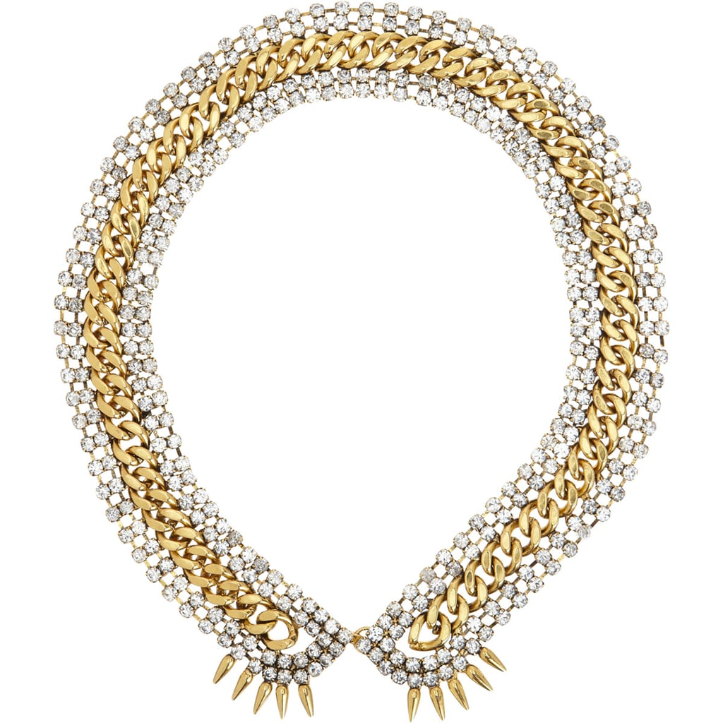 All of your blouses and tees are about to get a lot more exciting with the addition of Fallon's chain-and-stone collar necklace ($179, originally $300).