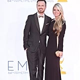 Aaron Paul stepped onto the red carpet with fiancée Lauren Parsekian.