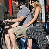 Olivia Wilde and Jason Sudeikis took a Vespa ride together in NYC.