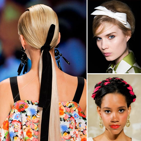how to wear a ribbon in your hair