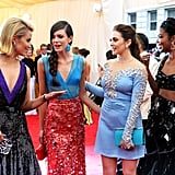 Dianna Agron entertained Stacy Martin, Elizabeth Olsen, and Gabrielle Union with a story on the red carpet in 2014.