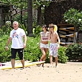 Shirtless Justin Bieber Kissing Bikini-Clad Selena Gomez!