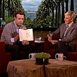 Jason Sudeikis and Ellen DeGeneres