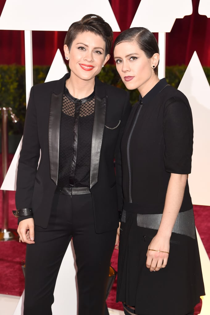 Tegan And Sara Oscars 2015 Hair And Makeup On The Red Carpet