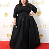 She looked magnificent in Marchesa at the 2014 Emmy Awards.