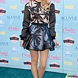 Bella Thorne was print perfect in Fausto Puglisi on the blue carpet for the Teen Choice Awards.