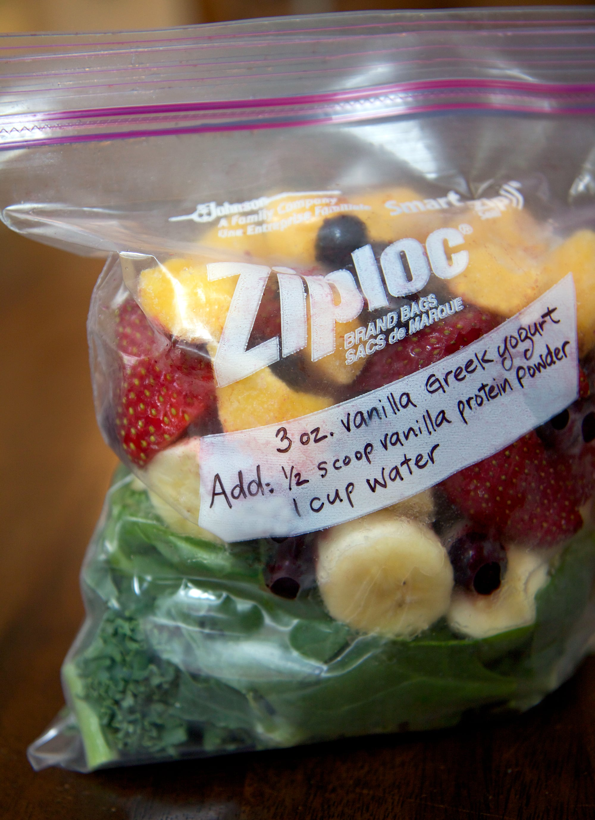 check out this timesaver prep all the fruit and greens you use in your smoothies and freeze individual serving sizes in quartsized freezer bags glass - Can You Freeze Pears