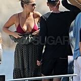 Bar Refaeli slipped out of her dress.