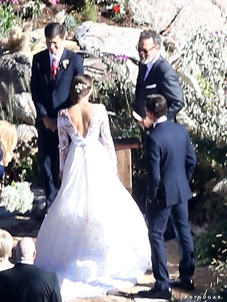 Tom Hanks officiated the couple's ranch ceremony.