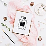 Perfume Fashion Bottle Wall Art Print
