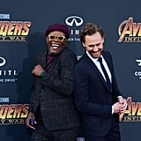 Pictured: Samuel L. Jackson and Tom Hiddleston