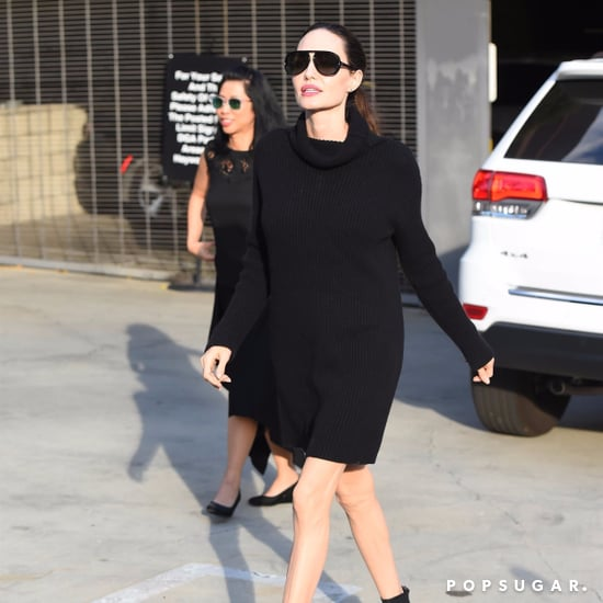 Angelina Jolie's Black Sweater Dress