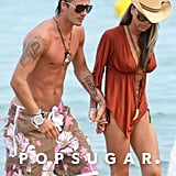 The couple took a Saint-Tropez vacation together in June 2005.