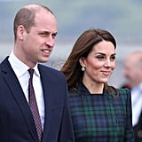 Kate Wore the Earrings With Her McQueen Tartan Coat During Her Visit to Scotland in 2019