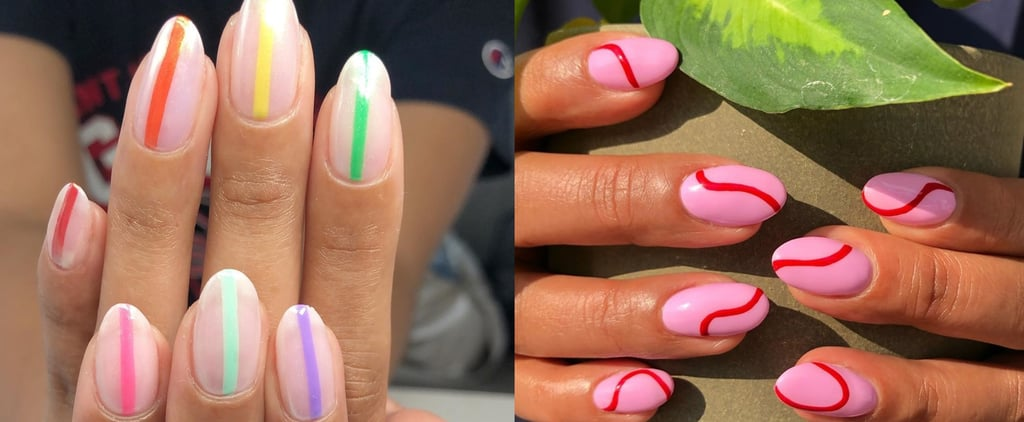 Nail Art Trends 2019: Simple One Line Nail Art Ideas