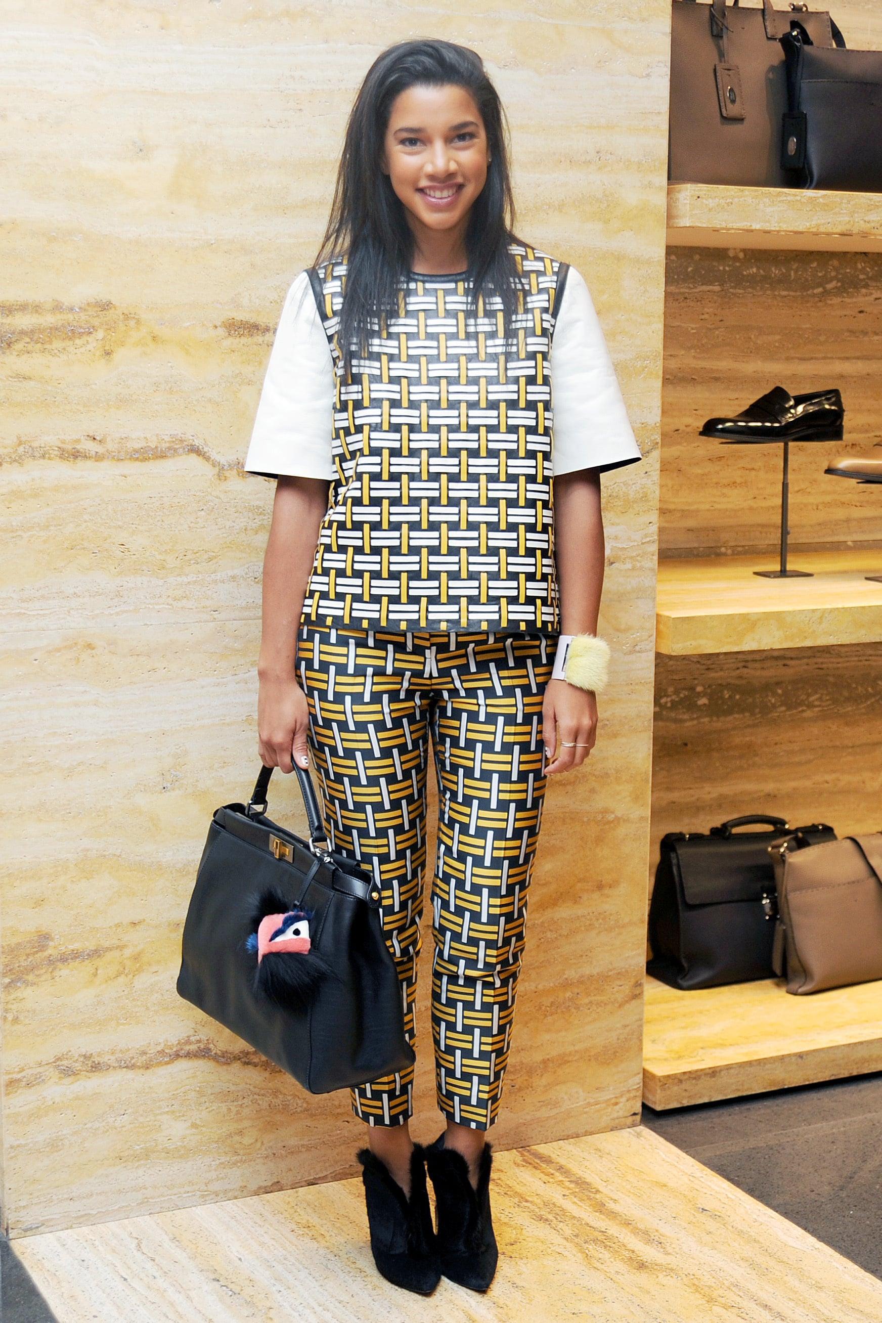 Hannah Bronfman in Fendi at Vogue's Fendi Buggies launch.