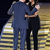 Prince Harry greeted First Lady Michelle Obama at Orlando's Invictus Games in May.