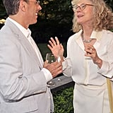 Blythe Danner chats with Jerry Seinfeld.