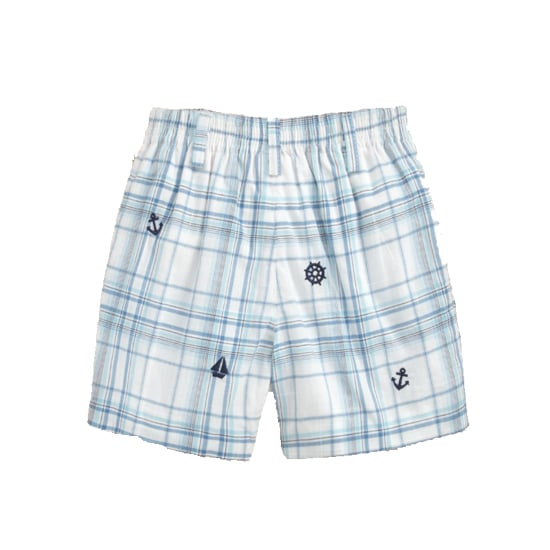 Embroidered Plaid Shorts