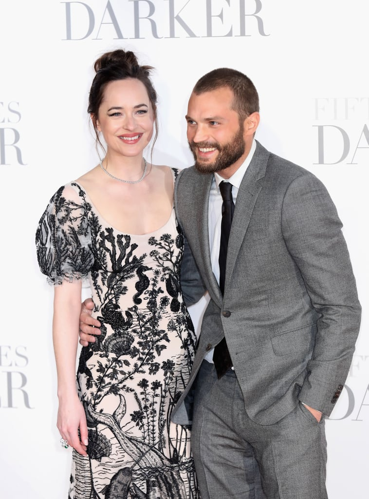 Jamie Dornan And Dakota Johnson Fifty Shades Darker Uk 2017 Popsugar Middle East Celebrity And