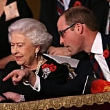 Queen Elizabeth II has worn the earrings on numerous occasions, most recently at another Remembrance event, the Festival of Remembrance in 2015, just one year before Kate borrowed them.