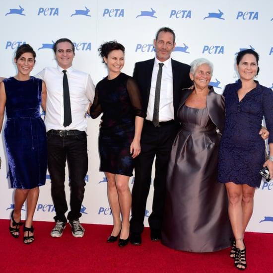 Joaquin Phoenix and Family PETA Red Carpet Pictures