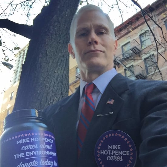 Mike Hot-Pence Collects Donations in Times Square