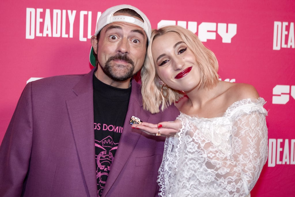 """Harley Quinn Smith stars on Freeform's latest series Cruel Summer, and chances are, you've probably seen her in one of her dad Kevin Smith's films before. The 25-year-old actor has appeared in Jay and Silent Bob Reboot, Tusk, Clerks II, and Yoga Hosers, and now she's playing one of Jeanette Turner's (Chiara Aurelia) best friends, Mallory Higgins, in the psychological thriller. Ahead of the show's April 20 premiere, Kevin shared his excitement over his daughter's part in the show on Instagram. """"PROUD DAD ALERT!,"""" the director wrote alongside a clip from the series. """"So happy for the Kid: she's already further along in her career than I was at her age . . . Go get 'em, Kiddo! Proud I raised such a good professional liar!"""" Kevin's Cruel Summer tribute for his daughter is just one of the many cute moments the two have shared together. From red carpet outings to funny snaps on Instagram, it's clear the apple didn't fall far from the tree. In honour of their sweet father-daughter bond, see some of Kevin and Harley's best moments ahead.      Related:                                                                                                           The Biggest Mystery on Cruel Summer Is Whether It Will Return for a Second Season"""