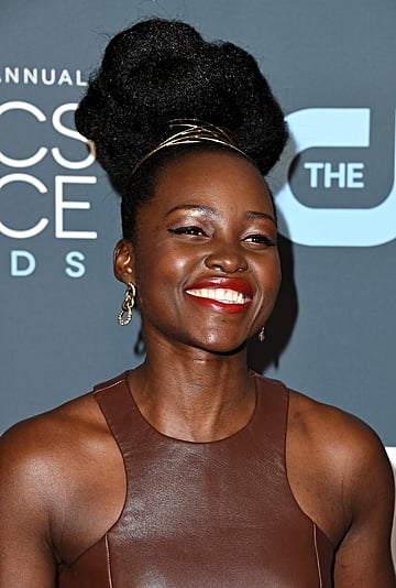 Lupita Nyong'o's Hair Detail at the Critics' Choice Awards