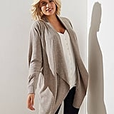 Loft Plus Drapey Open Cardigan