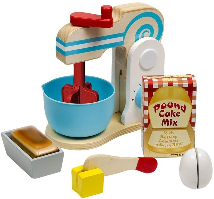 For 3-Year-Olds: Melissa & Doug Wooden Make-a-Cake Mixer Set